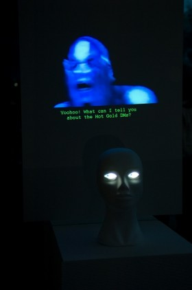 Mannequin showing Noisettes' video